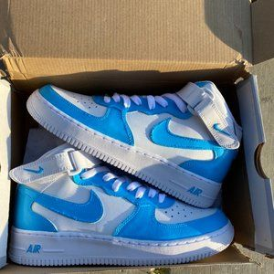 Nike Custom Air Force 1 Mid Bright Blue